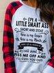 Gray Long Sleeve Crew Neck Women's Fashion Print Sweatshirt