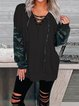 Long - Sleeved V - Neck Hoodie With Rope For Autumn And Winter