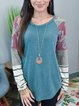 Multicolor Cotton-Blend Casual Shirts & Tops