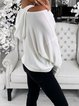 A Long Sleeve Hoodie With An Off-The-Shoulder Pocket