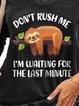 Sloth Print Long Sleeve V-Neck Loose Sweatshirt