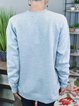 Gray Shift Letter Casual Cotton-Blend Shirts & Tops