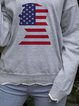 American flag print sweater loose bottoming shirt