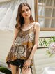 Brown A-Line Casual Shirts & Tops