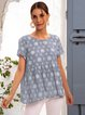 Blue Simple A-Line Shirts & Tops