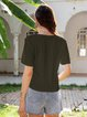 Green Shift Short Sleeve Shirts & Tops