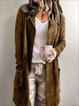 Solid Long Sleeve Casual Outerwear