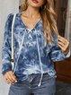 Ombre/tie-Dye Casual Sweatshirt