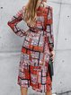 Casual Printed Long Sleeve Dresses