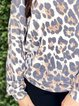 Leopard Casual Shift Shirts & Tops