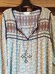 Multicolor Long Sleeve Shift Shirts & Tops