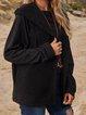 Black Sleeveless Hoodie Plain Outerwear