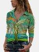 Printed Long Sleeve Casual Shirts & Tops