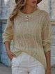 Jacquard Long Sleeve Sweater