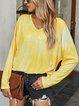 Cotton-Blend Long Sleeve Shirts & Tops