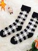 Autumn And Winter Plaid Adult Socks