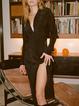 Elegant Shirt Collar Long Sleeve Buttoned Dress