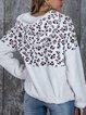 Long Sleeve Hoodie Leopard Sweater