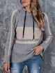 Long Sleeve Stripes Cotton-Blend Shift Sweater