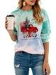 Christmas Snowman Casual Long Sleeve Shirts & Tops