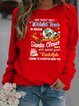 Christmas Snowman Shift Casual Cotton-Blend Shirts & Tops