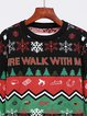Christmas autumn and winter new style round neck pullover jacquard christmas sweater