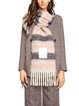 Striped cashmere soft and warm long scarf