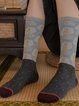 5 Pair Vintage Patchwork Color Personality In Stockings