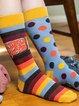 Printed Color-block Underwear & Socks