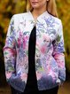 Casual Floral Long Sleeve Outerwear