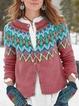 Cotton Crew Neck Long Sleeve Casual Outerwear