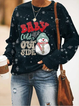 Women's Christmas Snowman Baby Cold It's Out Side Printed Sweater
