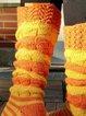 Warm socks, piled socks, colorful socks
