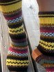 Multicolor striped long socks