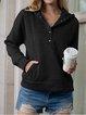 Cotton-Blend Long Sleeve Casual Sweatshirt