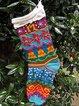 Colorful Christmas yarn socks
