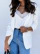 Solid Color Lapel Slim Suit Coat