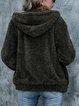 Casual Long Sleeve Plain Shift Outerwear