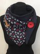 Anchor casual knitted scarf and shawl