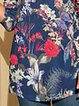 Women's Floral-Print Long Sleeve Casual Shirts