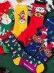 Warm christmas socks padded terry socks