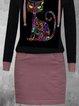 Casual Animal Pencil V-Neckline Bodycon Dress