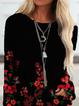 Sexy Shift Floral-Print Cotton-Blend Shirts & Tops