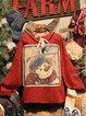 Retro Christmas Snowman Long Sleeve Sweatshirt