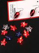 Sparkling Star Earrings for Independence Day