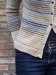 Casual Striped Long Sleeve Shift Shirts & Tops