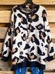 Leopard Print Loose Knit Sweater