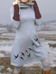 Vintage Long Sleeve A-Line Dresses