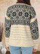 70s contrast color bohemian casual cashmere woolen coat