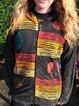 Long Sleeve Shift Vintage Color-Block Outerwear
